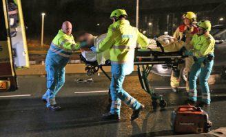 13 maart Gewonde bij éénzijdig ongeval Delfgauwseweg Delfgauw