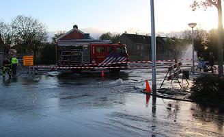 4 november Waterleiding geraakt Dijkshoornseweg Den Hoorn