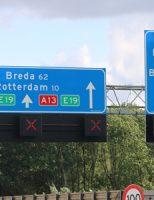 9 september Motorrijder gewond na ongeval A13 Delft