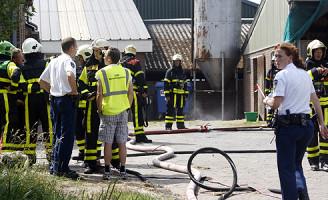 5 augustus Opslagtank met Gasolie in brand Schipluiden