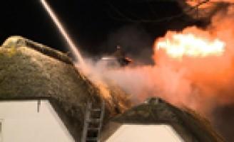 Zeer grote brand Rieten dak Hazerswoude-Rijndijk