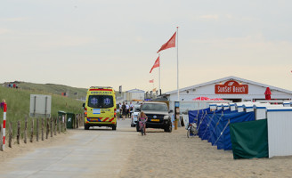 3 augustus Man en kind verdrinkt bij reddingspoging vriendinnetje Katwijk