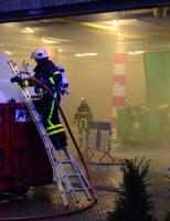 9 maart Bouwcontainer vlam gevat bioscoop Spuimarkt Den Haag