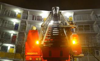 24 december Inzet brandweer bij stormschade Havikshorst Leiden
