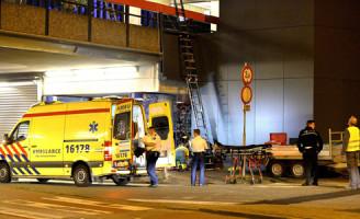 15 juli  Man gewond na val van ladder station Leiden
