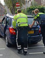 4 oktober Auto op z'n kant bij aanrijding Oostduinlaan Den Haag