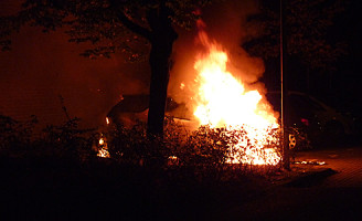 27 september Felle autobrand Egyptelaan Delft