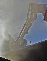 Zware rookontwikkeling Schoorsteenbrand Thomsonplein Den Haag