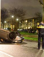 11 januari Auto over de kop na aanrijding met andere auto Segbroeklaan Den Haag