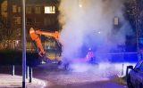 10 oktober Graafmachine in brand gestoken Teniersplantsoen Den Haag