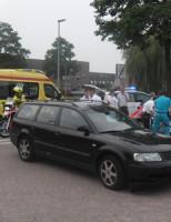 18 juni Bromfietser aangereden door auto