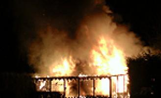 Tuinhuisje afgebrand Bieslandsepad