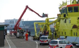 Ongeval op schip Houtrustweg