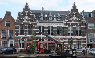 28 augustus Binnenbrand aan de Oude Singel in Leiden