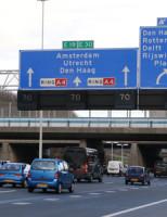 25 februari Kop-staart aanrijding tussen twee auto's A4 Rijswijk