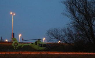 22 maart Traumahelikopter vliegt uit voor medische noodsituatie Willem Tombergstraat Gouda
