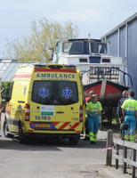 15 april Brand in boot Waardlaan Rijnsburg