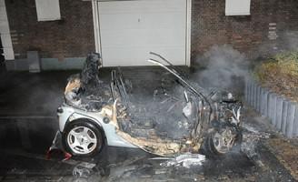 16 oktober Felle autobrand Beatrixstraat Leiden