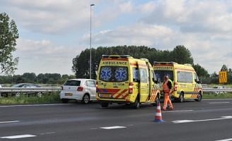 22 mei Kop-staart aanrijding A4 Leiden