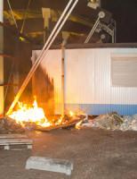 13 september Dixi in brand tegen metrostation P.J. Troelstralaan Schiedam