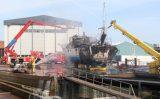 23 mei Uitslaande brand op schip Govert van Wijnkade Maassluis