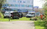 19 april Politie doorzoekt struiken in onderzoek overleden baby Stationstraat Schiedam