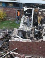 5 december Day After: Schade goed zichtbaar na brand Parkweg Schiedam