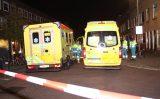 10 oktober 4 personen van balkon gered bij grote brand Van 't Hoffplein Schiedam