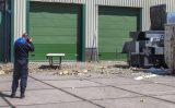 26 mei Gele rook na explosie in container Fokkerstraat Schiedam