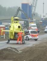 16 juni Traumahelikopter ingezet voor incident op bouwplaats Delft