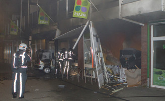 24 september Ravage na ramkraak supermarkt Geuzenplein Schiedam