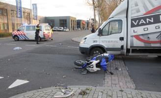 10 december Aanrijding tussen scooter en bestelbus Rotterdam