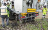 3 februari Drukte na ontspoorde tram Churchillweg Schiedam