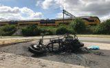 23 juni Scooter gaat in vlammen op Parallelweg Schiedam