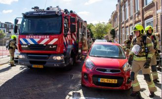 5 augustus Flinke wateroverlast door leiding breuk J.L. van Rijweg Zoetermeer