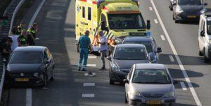 13 oktober Auto in vangrail na aanrijding A20 Rotterdam