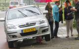 27 juni Auto klapt op paal Dillenburgsingel Vlaardingen