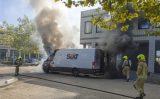 13 september Bestelbus vol met pakketjes uitgebrand Vareseweg Rotterdam