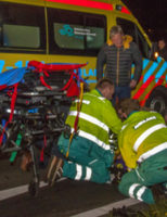 26 maart Motorrijder gewond na valpartij Groene Kruisweg Heenvliet