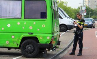 4 juli Aanrijding auto vs busje Havendijk Schiedam