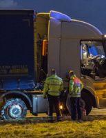 18 september Vrachtwagenbrand A20 blijkt klapband Vlaardingen