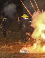6 december Grote oefening politiehonden met vuurwerk Schiedam
