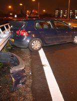 30 december Auto botst tegen vangrail A20 Vlaardingen