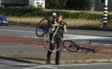 24 september Fietser gewond bij aanrijding met auto oprit A4 Vlaardingen / Schiedam