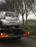 8 februari Auto te water na vergeten handrem Bieslookveld Schiedam