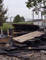 15 juli Bouwkeet volledig uitgebrand Zadelmakerhof Schiedam