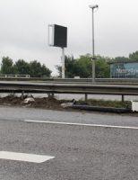 12 augustus Vrachtwagen botst tegen vangrail A16 Brienenoordbrug A16 Rotterdam