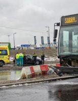 13 december Ongeval op nieuwe busoversteek Vijfsluizen Mr. L.A. Kesperweg Vlaardingen