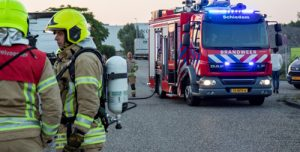 27 juni Brand bij bouwkeet Fortunaweg Schiedam
