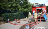 19 juli Container vol hout in brand tegen schoolgebouw Baan Rotterdam